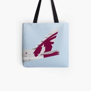 Wings In Uniform B777 Qatar Airways Tote Bag- by nADerl
