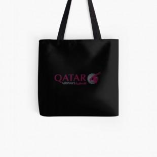 Qatar Airways Merchandise Tote Bag- by faizrviewio