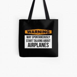 Aviation Tote Bag-by silverorlead