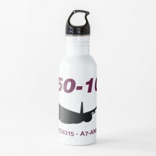 Airbus A350 1000 MSN215 A7 ANG Water Bottle-by AvgeeKCentral