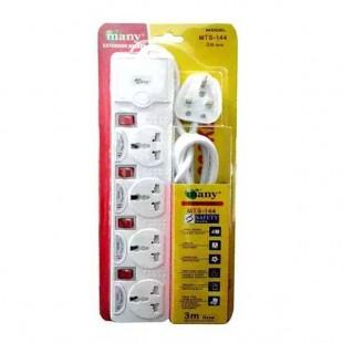 Many 4 Socket Power Converter Multi Plug (3 Pin)