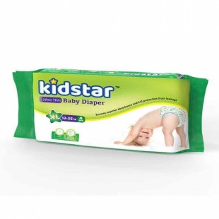 Kidstar Baby Diaper Extra Large 4 Pcs (12-25 Kg)